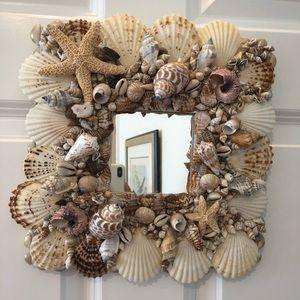 Other - Handmade seashell mirror